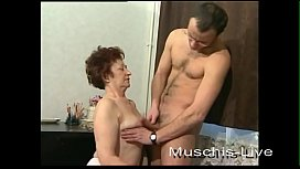 Grandma fucks with a younger man.
