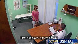 Hot brunette Gina gets fuck from behind at the clinic