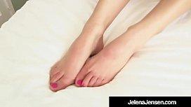 Penthouse Pet Jelena Jensen Stuffs Her Muff With Panties!