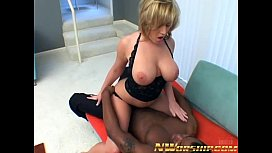 big boobs blonde milf mouth fucked with cumshot