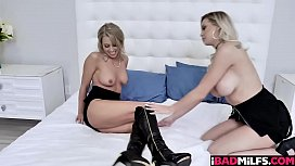 Kenzie Taylor and Zoey Monroe spread their legs wide open and getting pussy fuck!