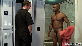 Interracial Gay Fuck In The Locker Room
