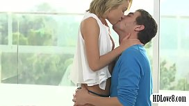 Teen blond twat pounded and cum facialed