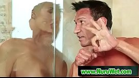 Blowjob during shower - Summer Brielle &amp_ Marco Banderas
