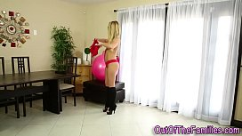 Real stepdaughter rides