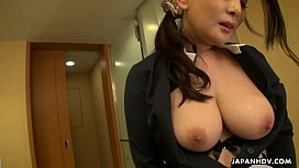 Japanese maid, Rei Kitajima was caught masturbating at work, uncensored