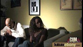 Ebony babe sucks too many white cocks 8
