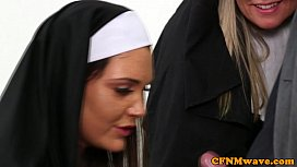 Nuns Tiffany and Emma in rough cock tug xxx video