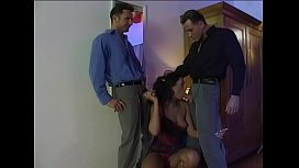 Dirty horny bitch is fucked by her Boss and her boyfriend