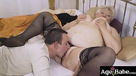 Lusty foster mom Astrid surprise Rob   with a great meal and her vintage cunt