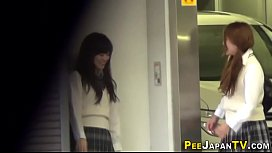 Asian teens caught peeing
