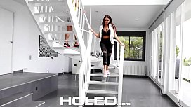 HOLED Busty Anissa Kate tight ass fucked by personal trainer