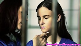 Busty jail sappho scissorfucking inmate babe