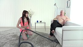 id 36411847: Old-n-Young.com - Luna Rival - Old man makes sweetie kneel