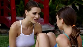 Sex with my trainer - Riley Reid and Lana Rhoades