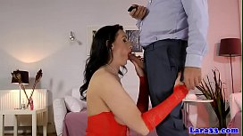 Busty british milf assfucked after clit toying