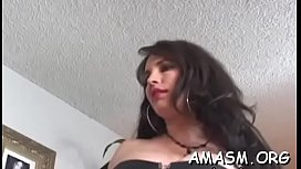 Guy stands obedient and endures humiliation with two babes