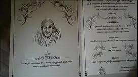 Swathi naidu's wedding invitation card