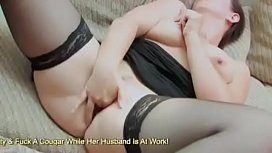 Chunky MILF In Sexy Lingerie Sticks 2 Fingers Deep Inside Her Pussy