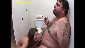 Blonde Sucks and Feed Fat Guy