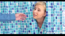 Milf Sucks Off Step-Son In Shower Famsuckcom