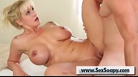Busty milf Ryan Conner fucked hard on the massage table by Romeo Price