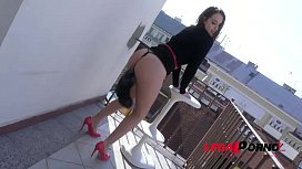 Big Booty Spanish Whore Zoey Doll Double Penetrated On A Balcony