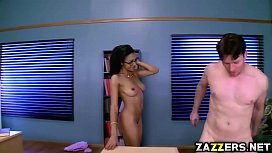 Preston Parker fucks that ebony pussy in the table