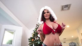 Jules Jordan - Ava Addams, Ho Ho Ho Santa Brought Me Big Titties For Christmas