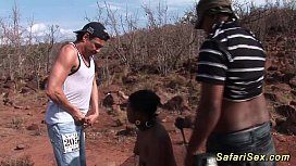 threesome african safari sex tour