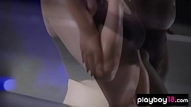 Chubby latina babe stripped and hyped twerking skills