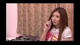 Horny Japanese teen fingers her pussy