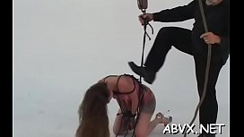Busty mature slavery porn