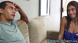 Latina stepsister fucked