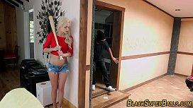 Teen bang black intruder