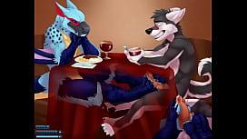 Gay Bird Giving Wolf Footjob Under Table - YIFF Jasonafex