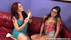 Hot Babysitter Double Teamed By Wife and Husband