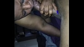 Cougar massage the dick orally