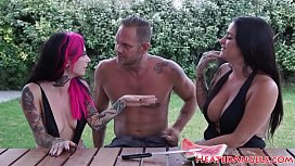 Alluring punk babes queening and dickriding