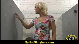 Horny Lady Enjoys Gloryhole Cocksucking Interracial 22