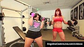 Cuban BBW Angelina Castro StrapOn Fucked By Muscular Nina!