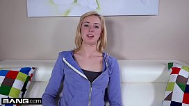 Amateur Haley Reed Gives Our BANG Producer A Sloppy Blowjob