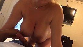Busty blonde sucking cock in hotel sextubex.xyz