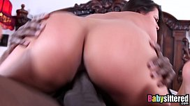 Babysitter Selma Sins has a thing for huge black cocks