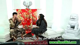 Hot asian masseuse gives pleasure to her client 17