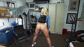 Slutty chick auditions for a job by taking casting directors BBC