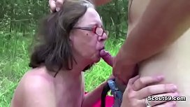 73yr old Granny Seduce to Fuck her Ass and Facial by Young