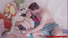 Young babe banged by her horny stepdad