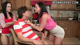 Katie St Ives caught having sex in the kitchen by her stepmom