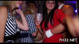 Yong girls in club are fucked hard by mature mans in wazoo and puss in time